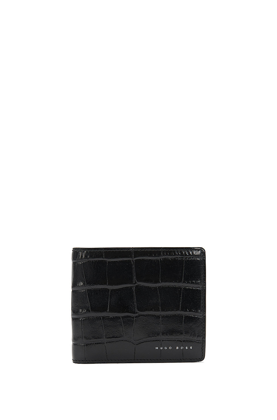 Elite C CC\'   Calfskin Crocodile Wallet