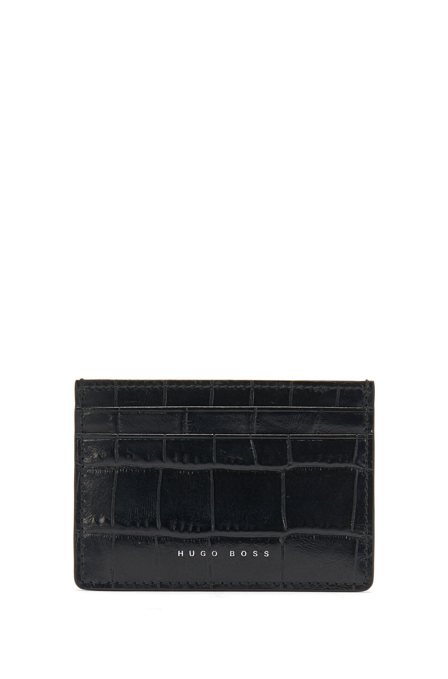 'Elite C S Card' | Calfskin Crocodile Card Case