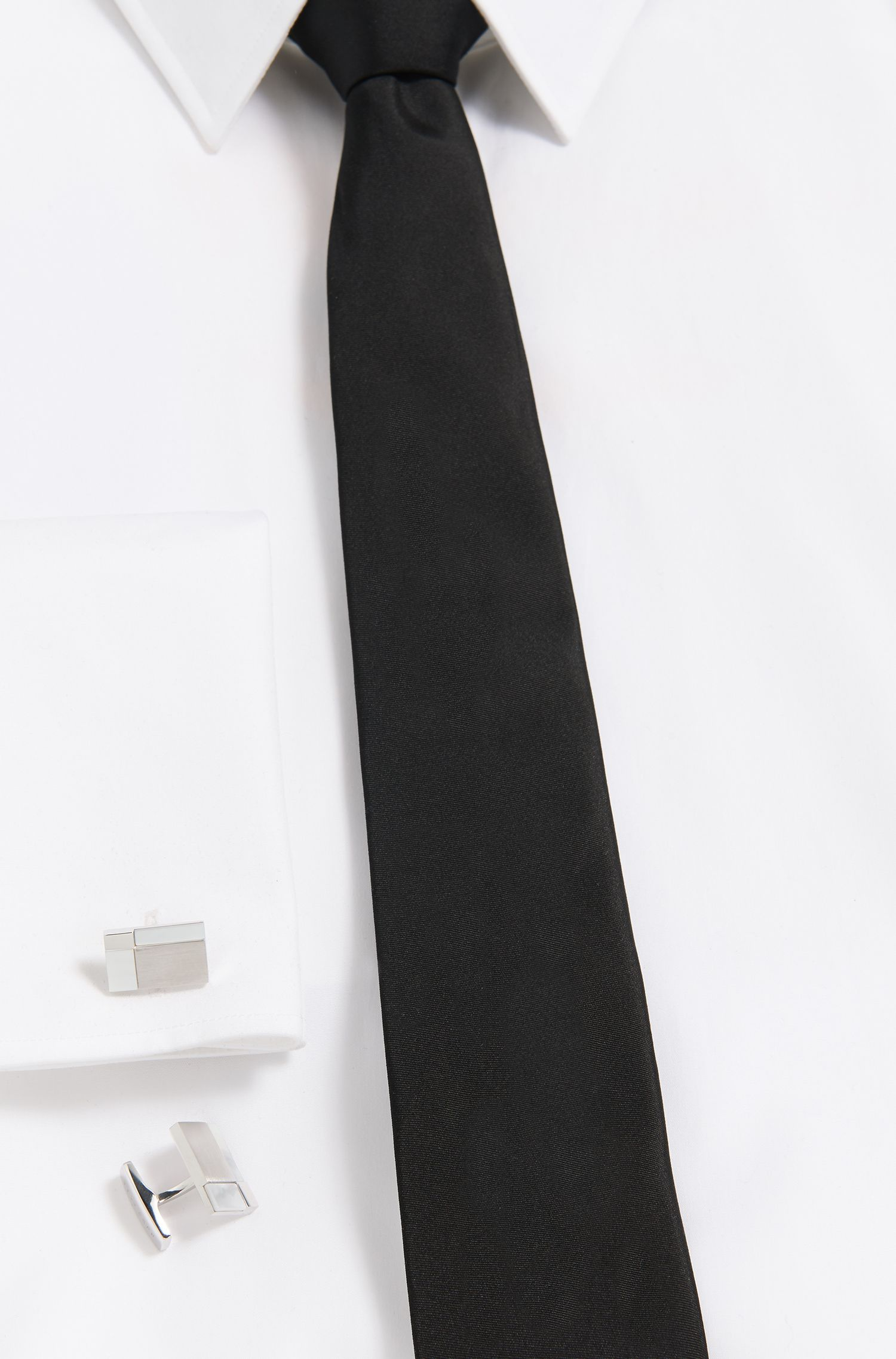 White Onyx & Metal Cufflinks | T-Clark, White