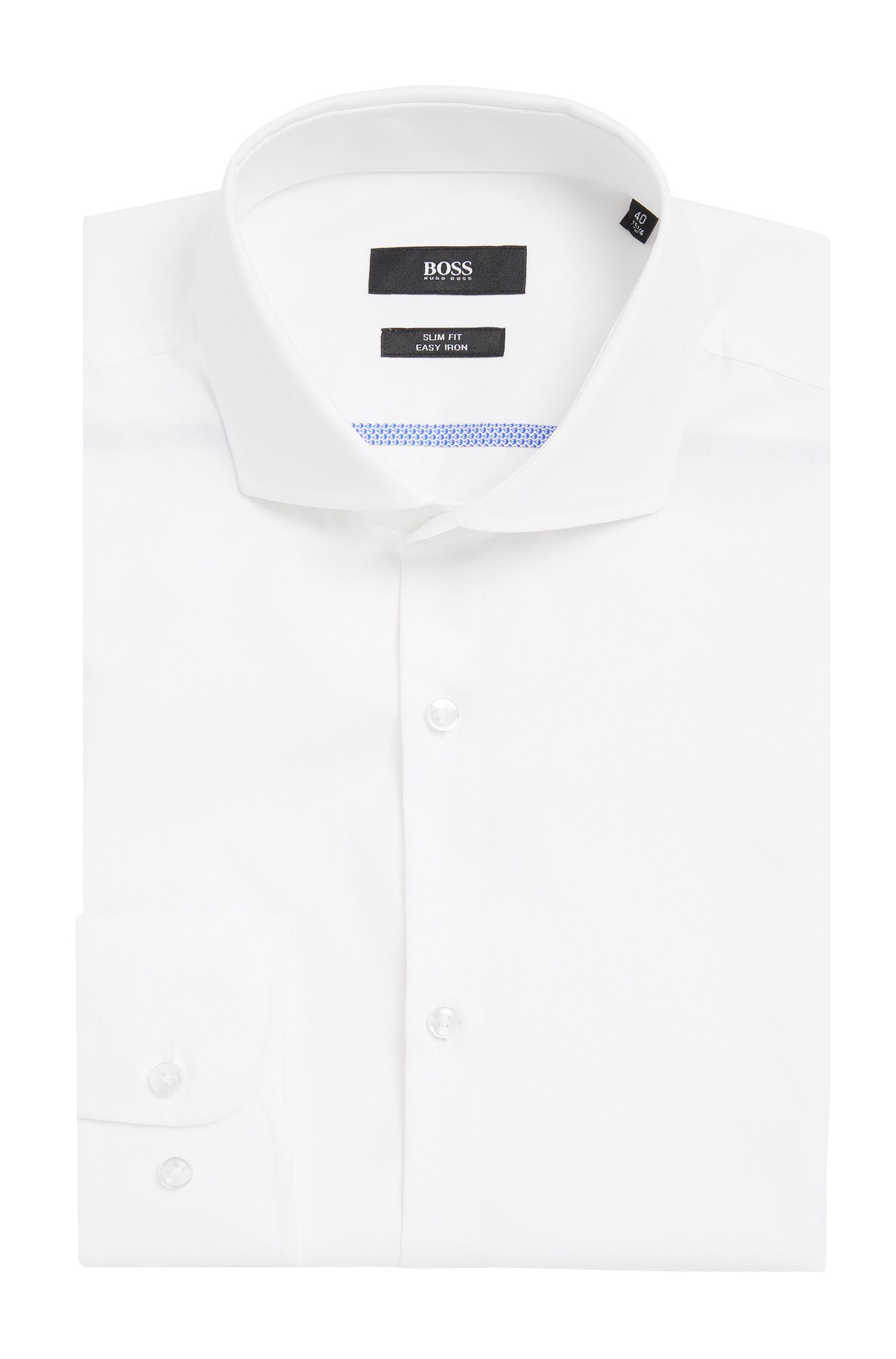 Easy-Iron Italian Cotton Dress Shirt, Slim Fit | Jerrin