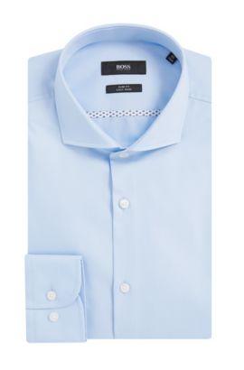 Easy Iron Italian Cotton Dress Shirt, Slim Fit | Jerrin, Light Blue