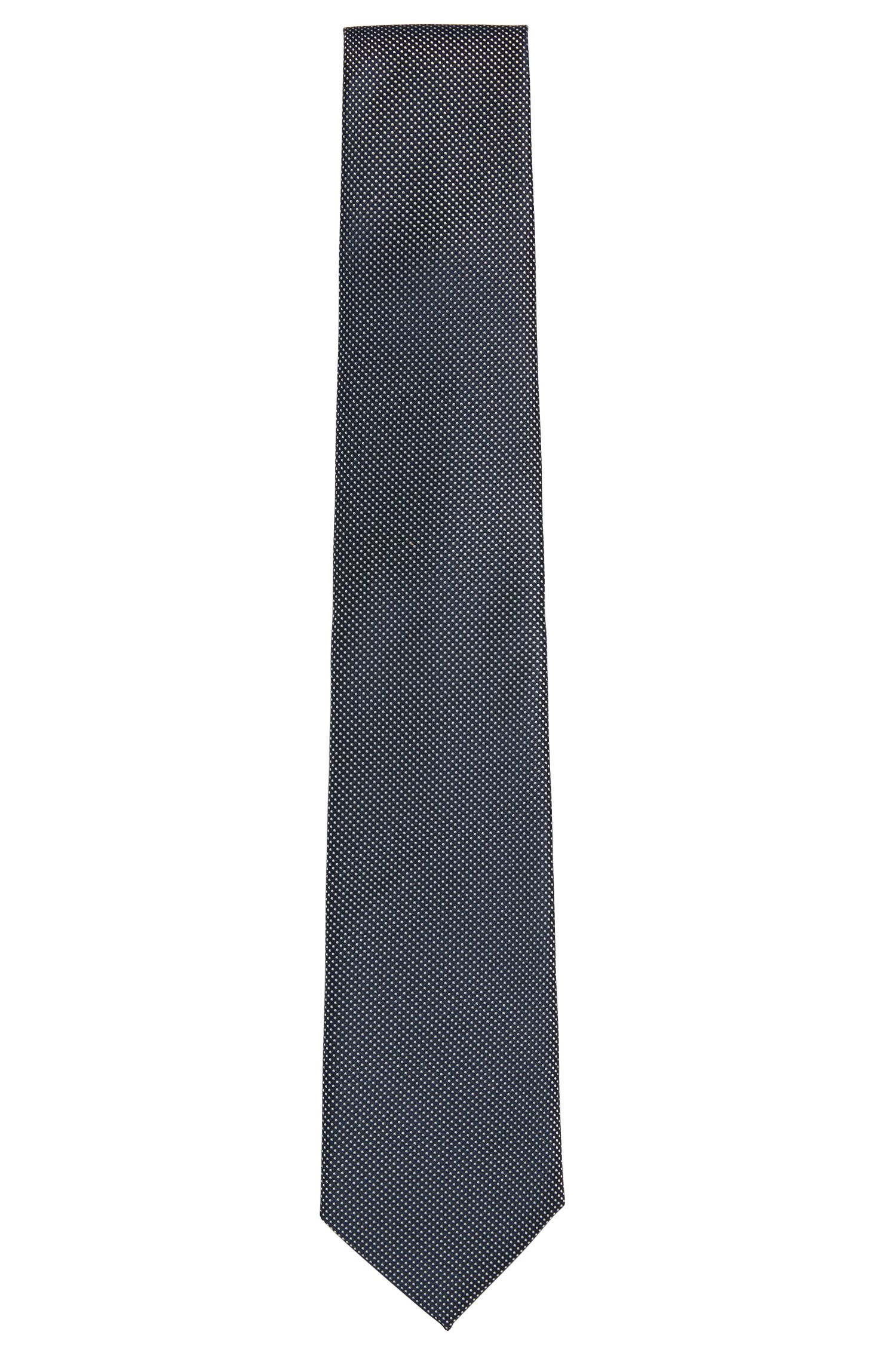 Embroidered Italian Silk Tie, Regular | Tie 7.5 cm