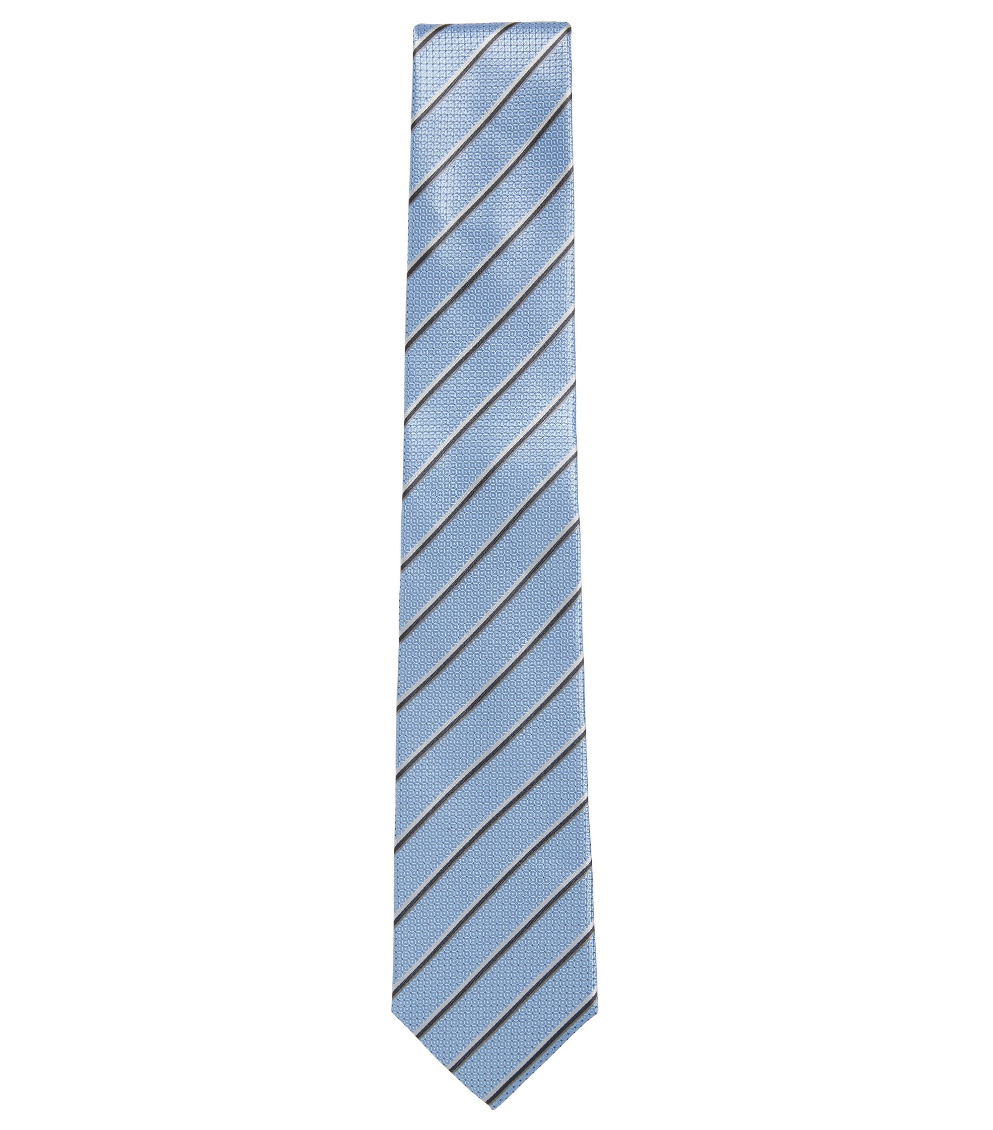 Woven Italian Silk Tie, Light Blue