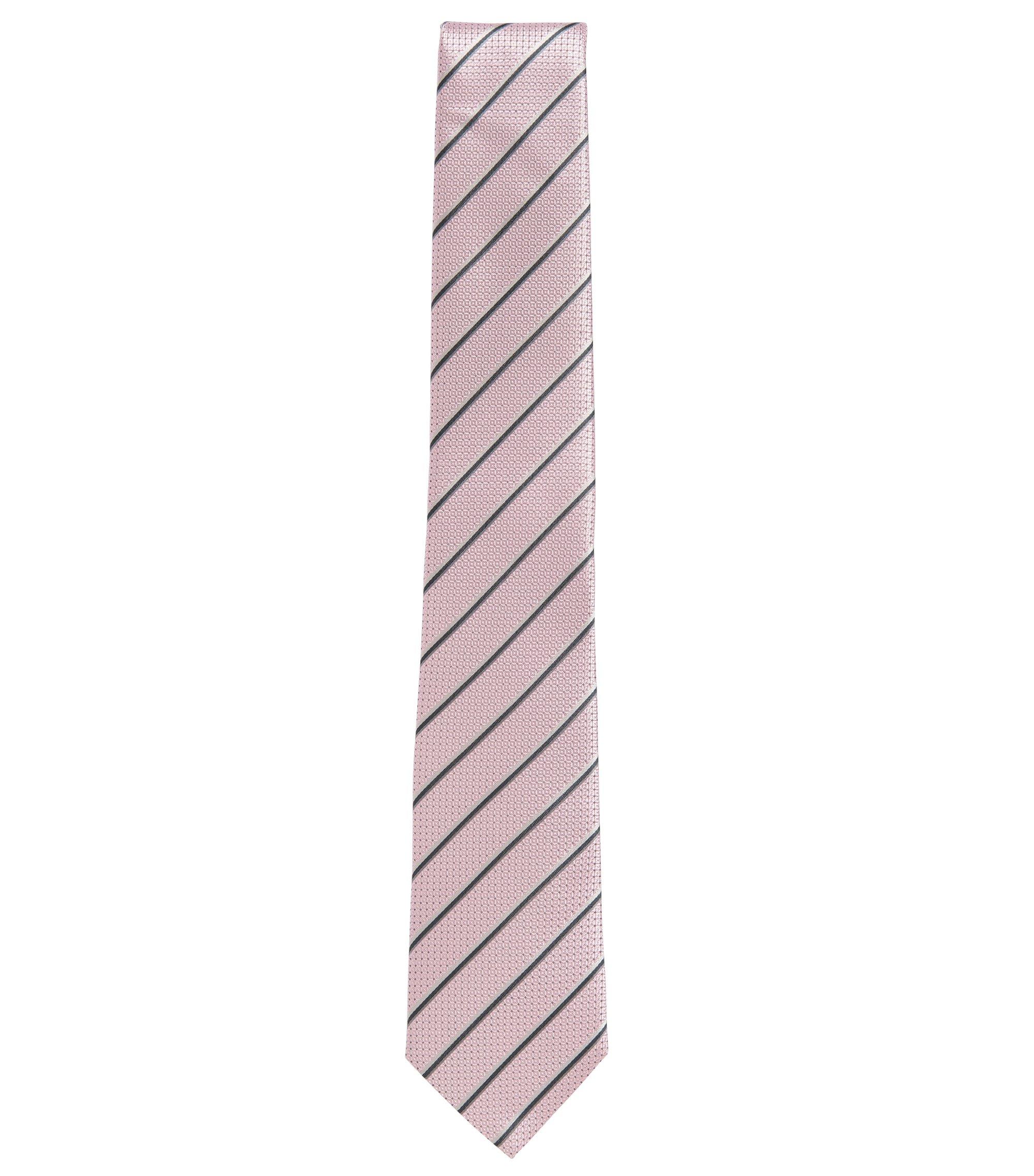 Woven Italian Silk Tie, light pink