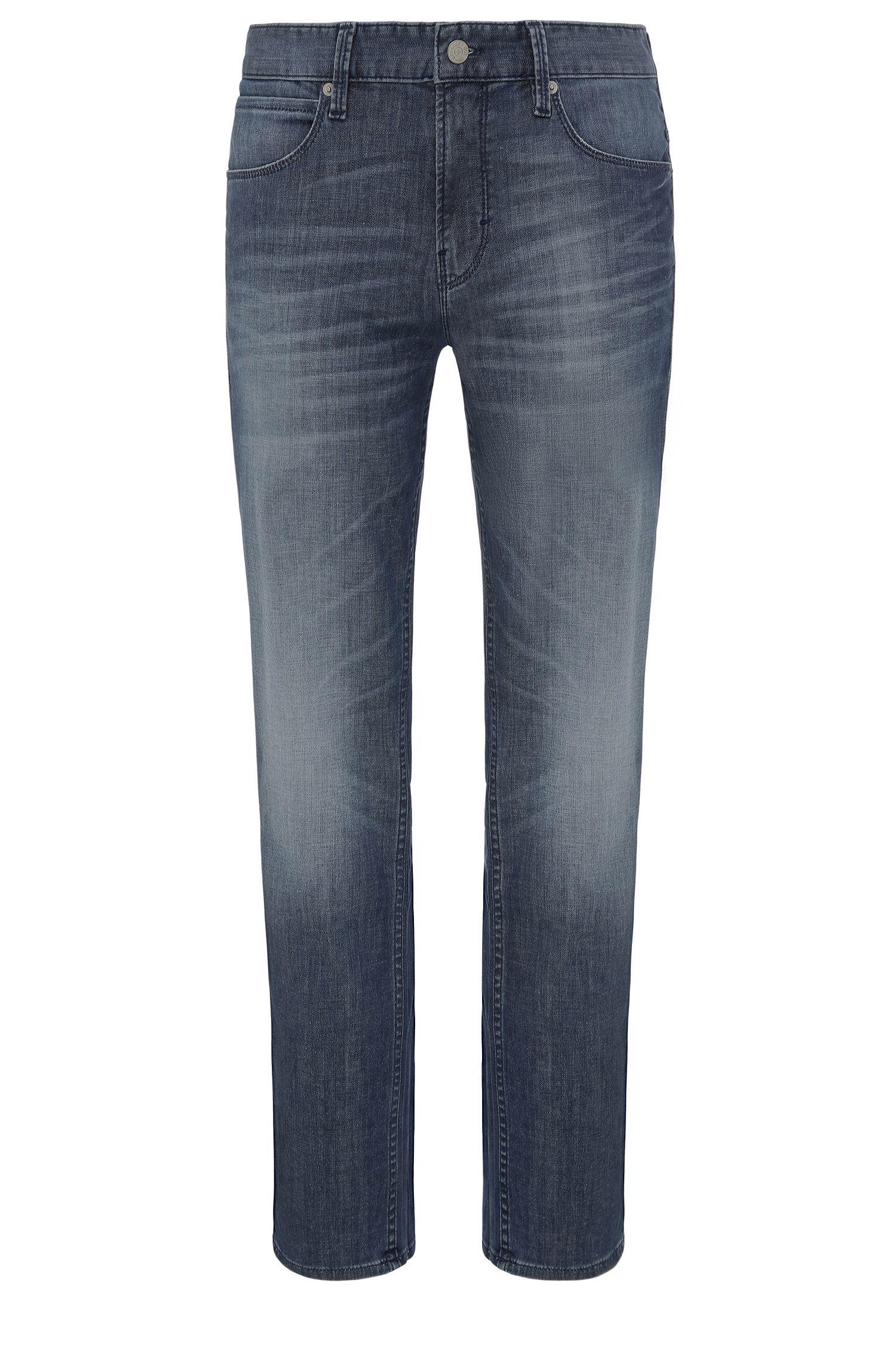 8.25 oz Stretch Cotton Blend Jeans, Slim Fit   Orange63, Blue