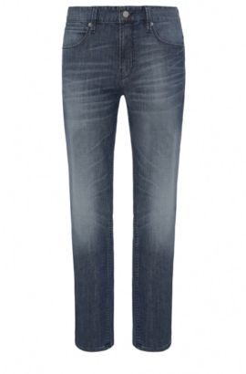 8.25 oz Stretch Cotton Blend Jeans, Slim Fit | Orange63, Blue