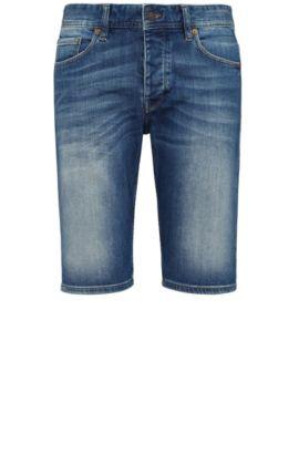 'Orange 90 Short' | Stretch Cotton, 11 oz Denim Shorts, Blue