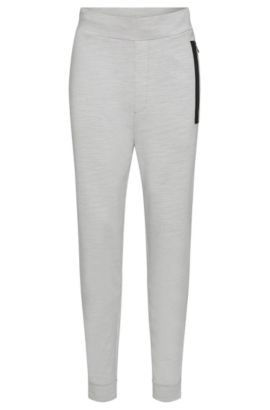 'Dalviso' | Stretch Cotton French Terry Sweatpants, Open Grey