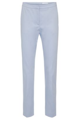 'Tobaluka7' | Relaxed Fit, Stretch Cotton Dress Pant, Turquoise