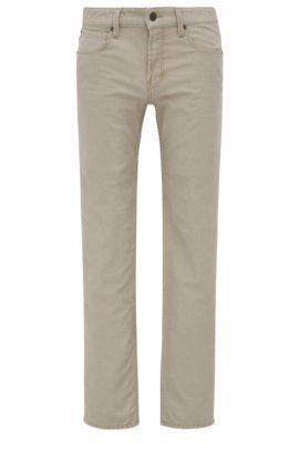 8 oz Stretch Cotton Linen Jeans, Slim Fit | Orange63, Brown