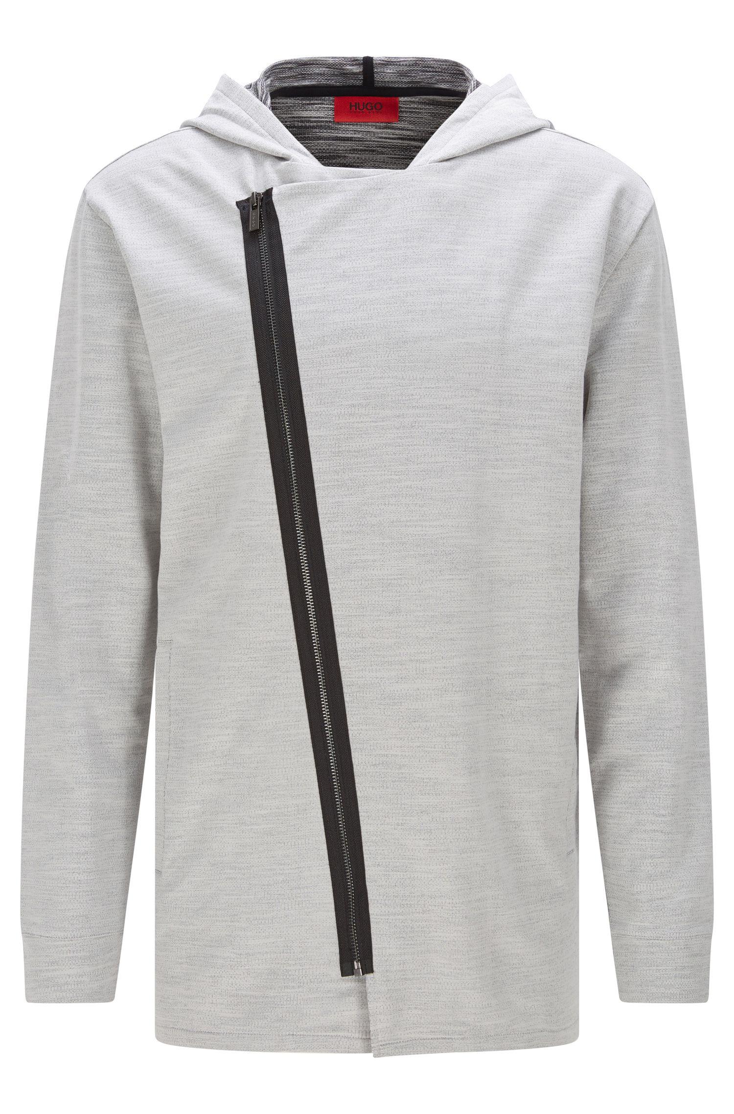 'Dells' | Stretch Cotton Zip Hooded Sweat Jacket