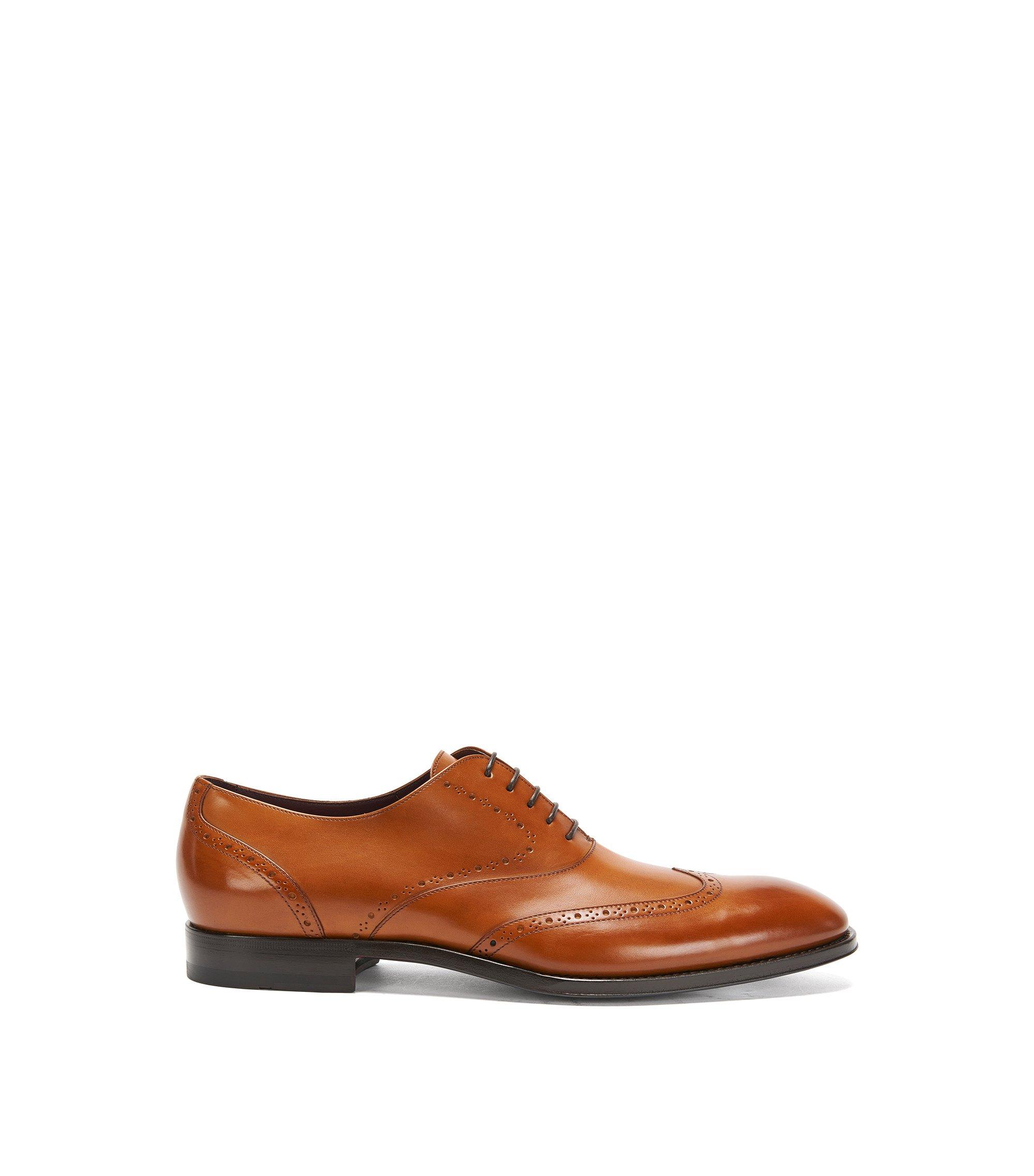 Italian Calfskin Oxford Wingtip Dress Shoe   T-Legend Oxfr Wt, Brown