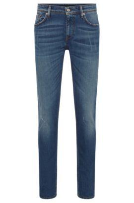 Italian Stretch Cotton Jeans, Slim Fit | Charleston WS, Blue