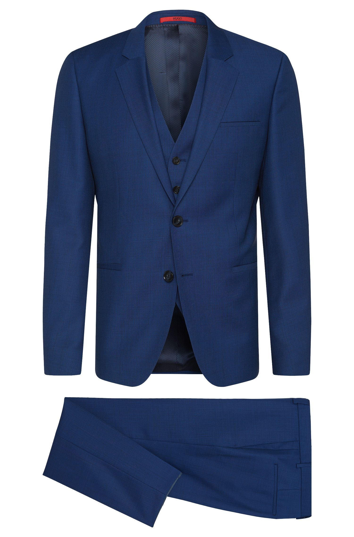 'Arvon/Wiant/Hilwert' | Slim Fit, Super 100 Virgin Wool 3-Piece Suit