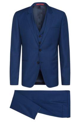 Super 100 Virgin Wool 3-Piece Suit, Slim Fit | Arvon/Wiant/Hilwert, Blue