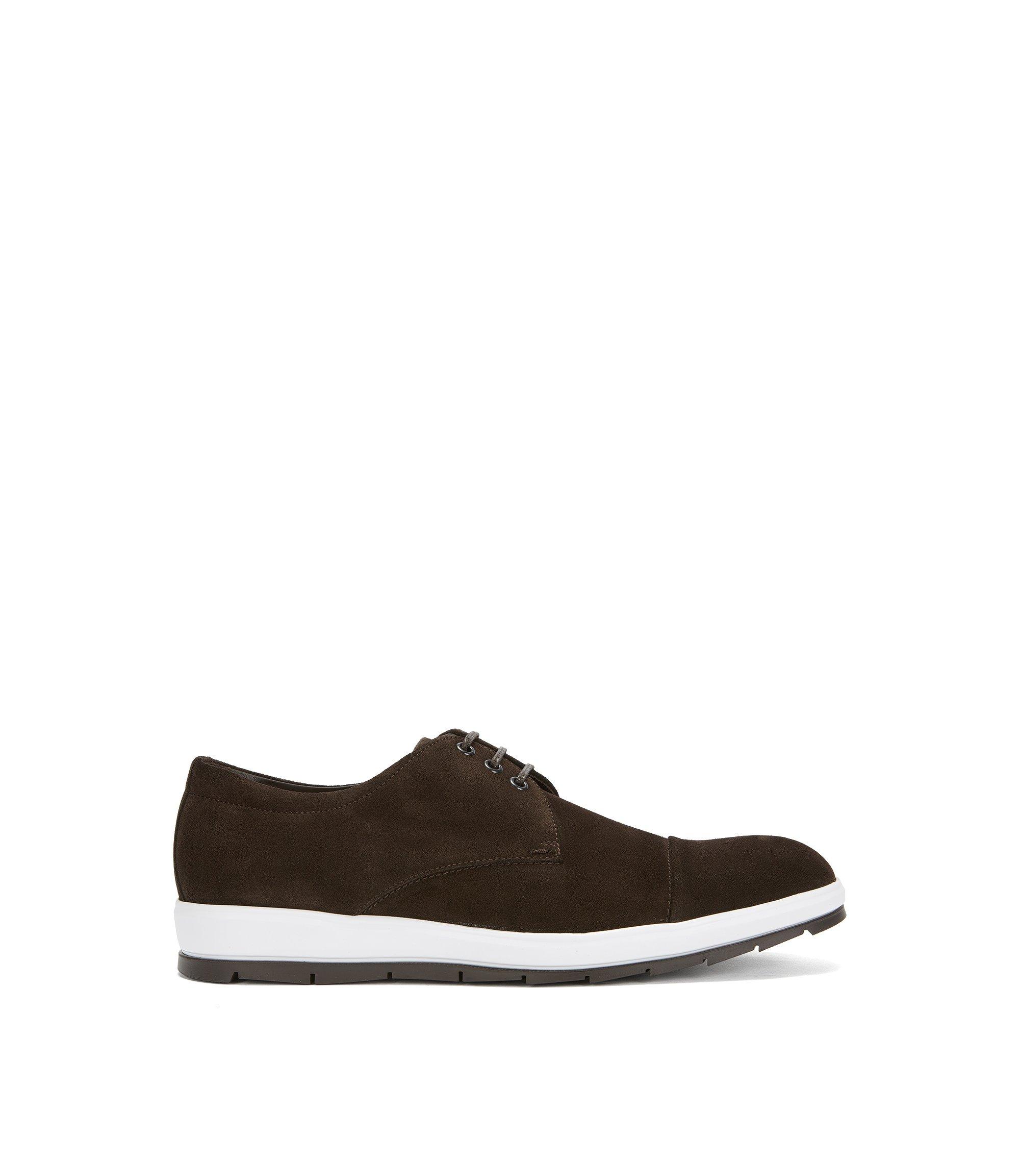 Suede Derby Shoe | Icon Derb Sdct, Dark Brown