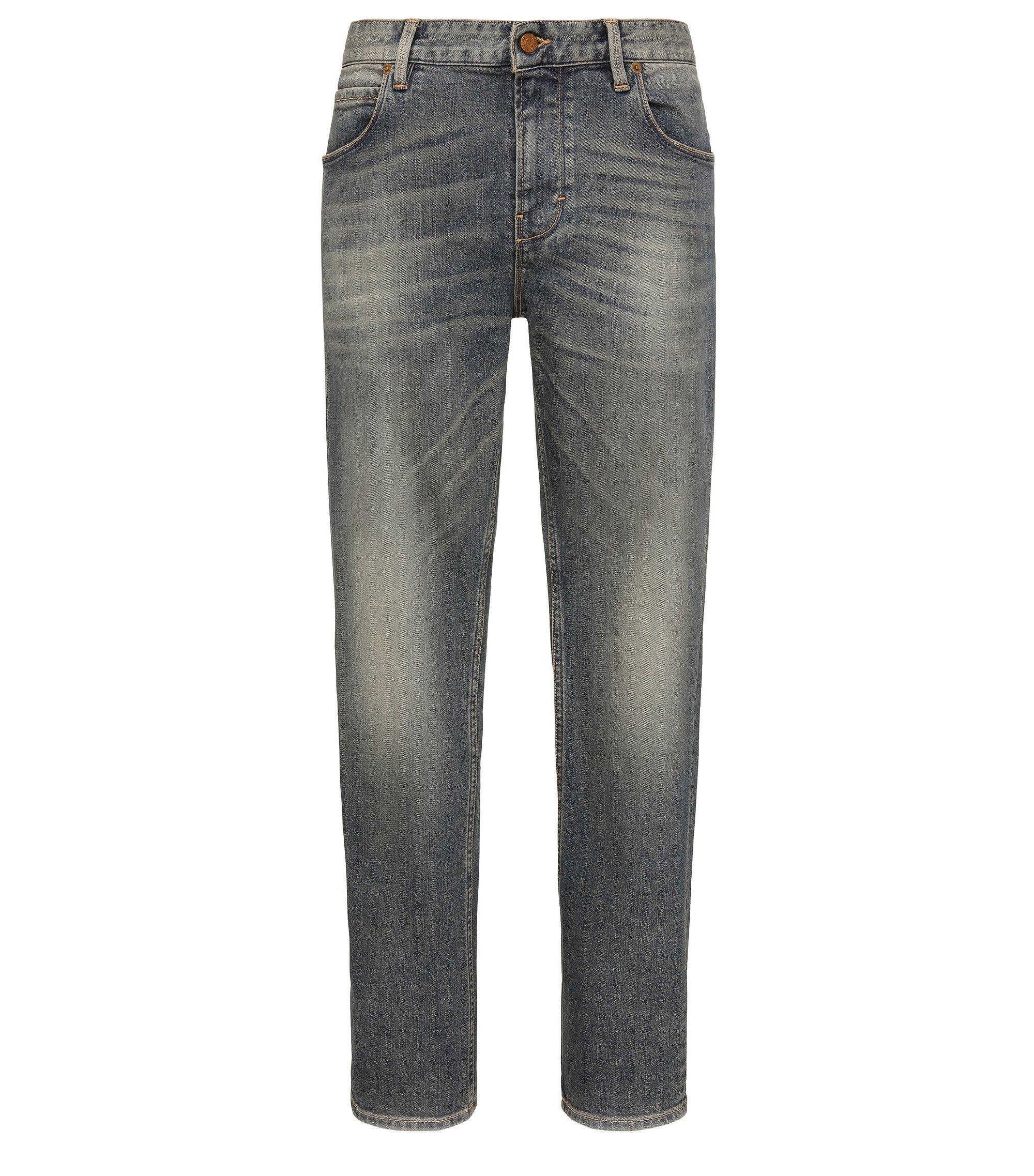 13 oz Stretch Cotton Jeans, Slim Fit | Orange63, Blue