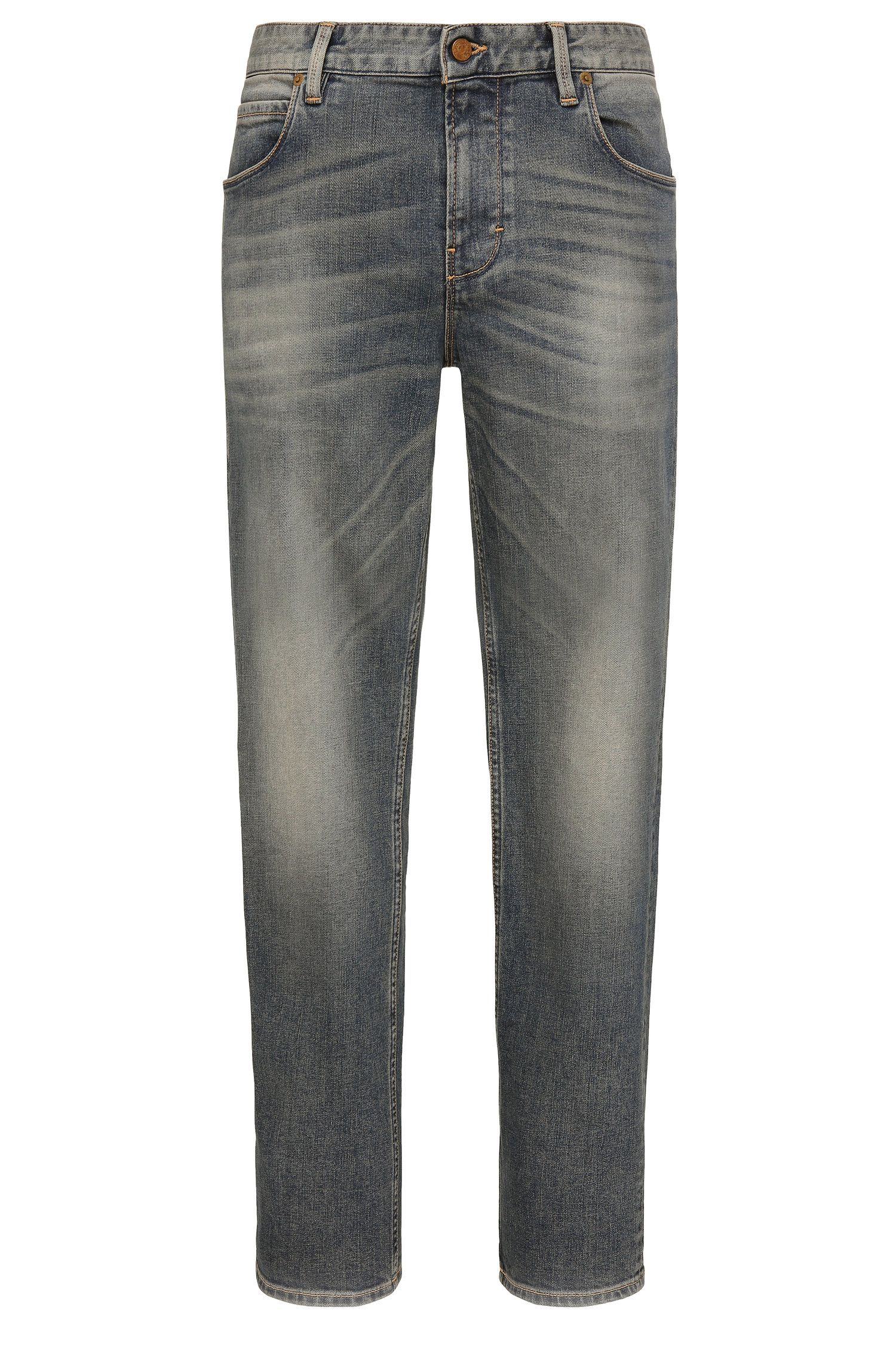 13 oz Stretch Cotton Jeans, Slim Fit | Orange63