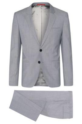 Italian Virgin Wool 3-Piece Suit, Slim Fit   Arvon/Wiant/Hilwert, Light Grey