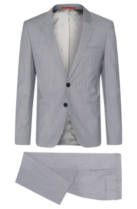 Italian Virgin Wool 3-Piece Suit, Slim Fit | Arvon/Wiant/Hilwert, Light Grey