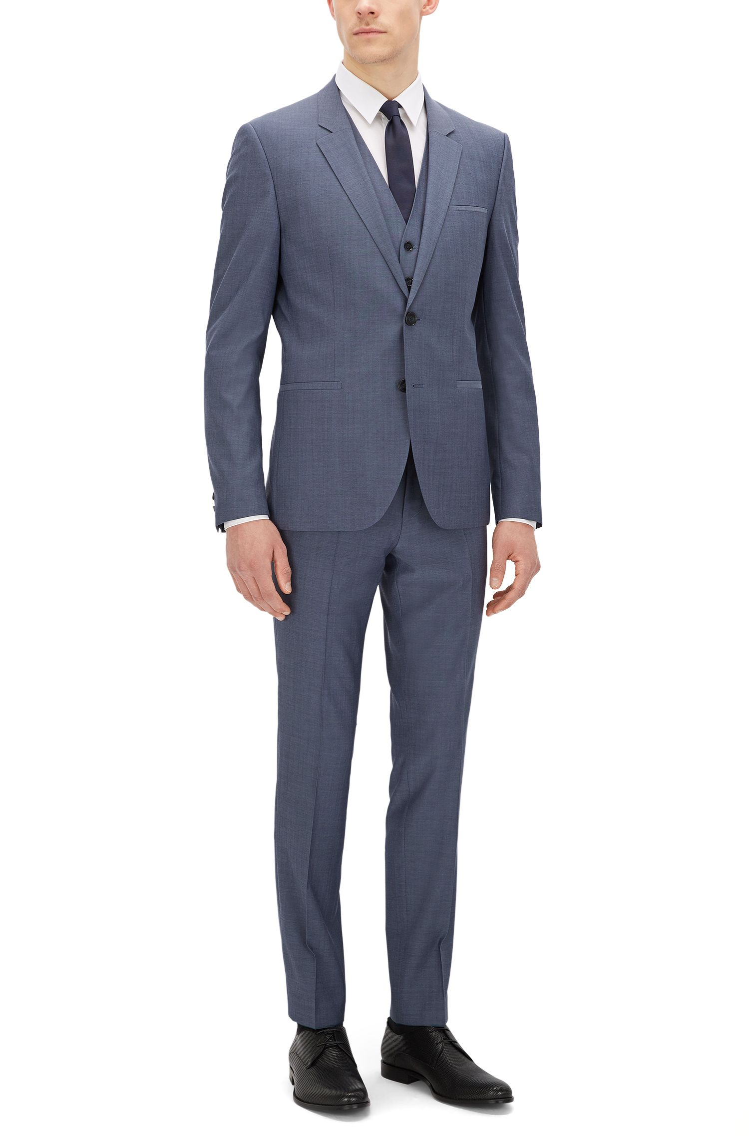 Italian Virgin Wool 3-Piece Suit, Slim Fit | Arvon/Wiant/Hilwert