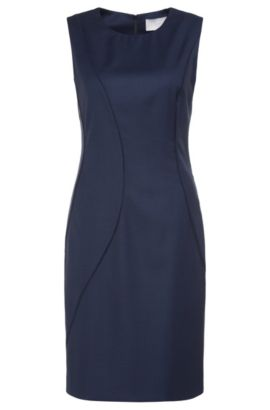 'Denesa' | Stretch Wool Blend Sheath Dress, Patterned
