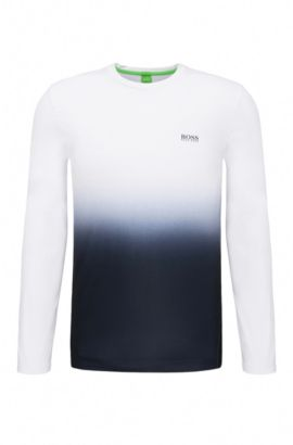 'Tubotech' | Ombre Long Sleeve T-Shirt, White