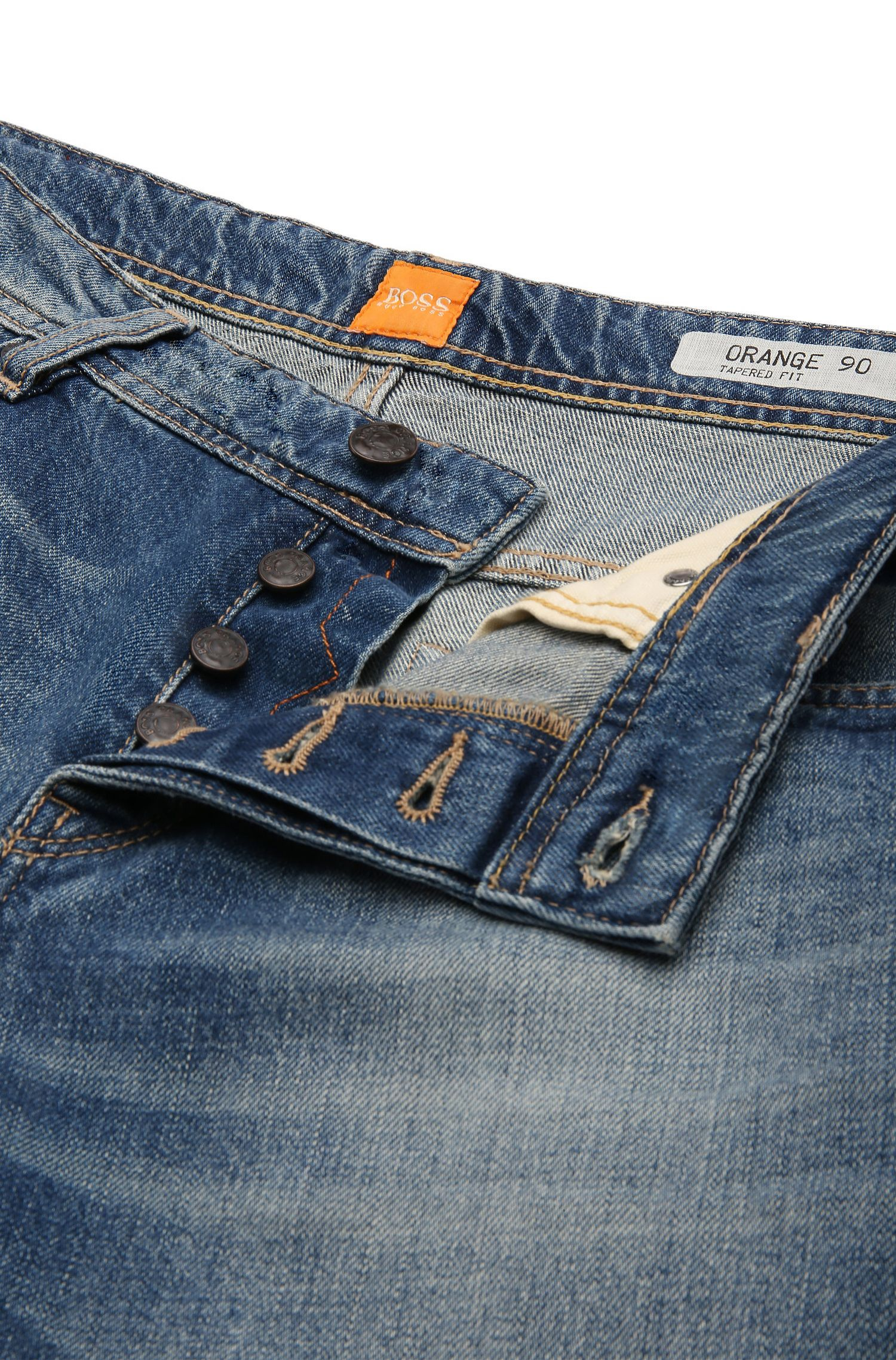 Cotton Blend Jean, Slim Fit | Orange90, Blue