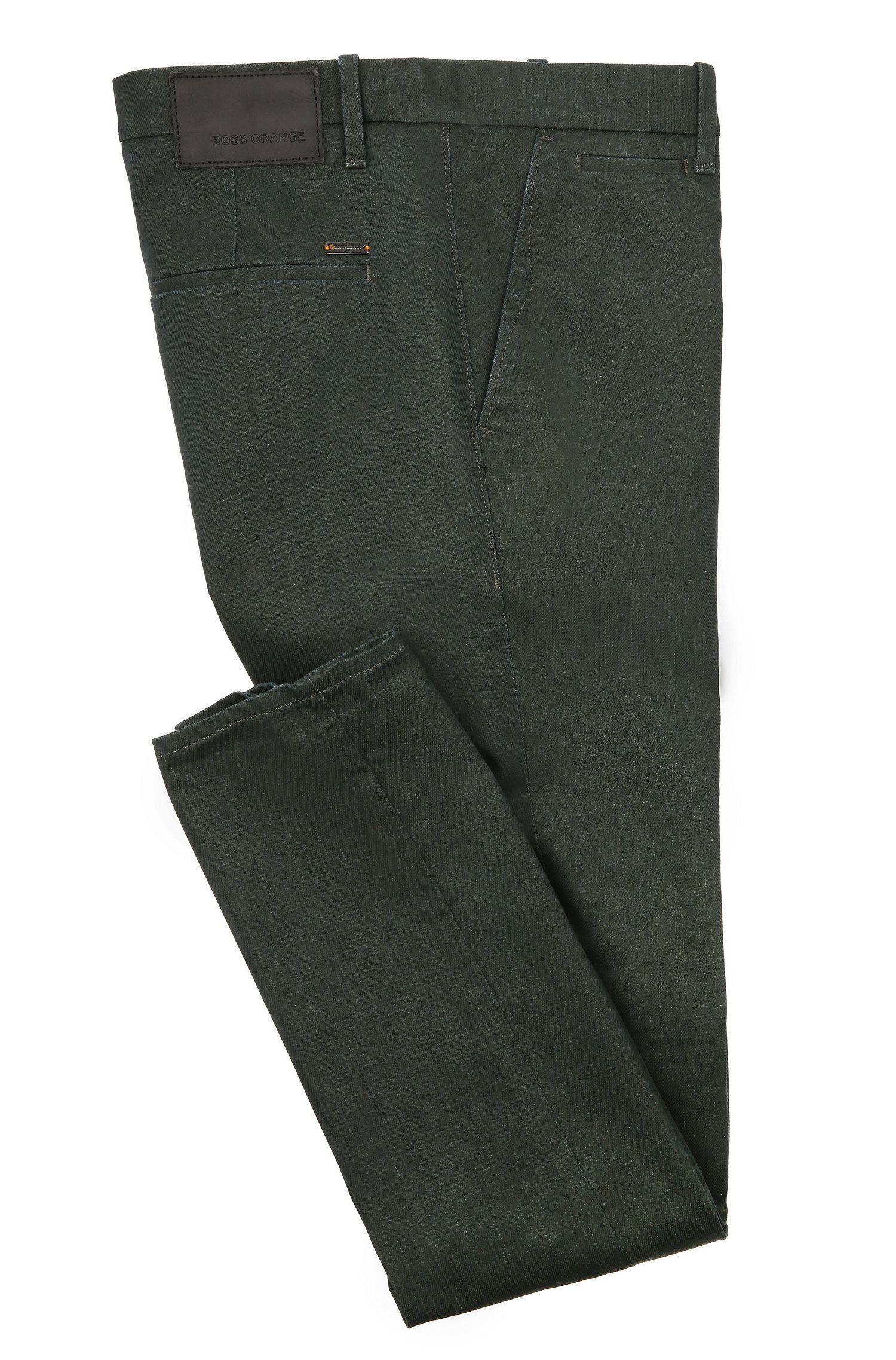 Stretch Cotton Denim Pant, Slim Fit | Orange Chester, Dark Green