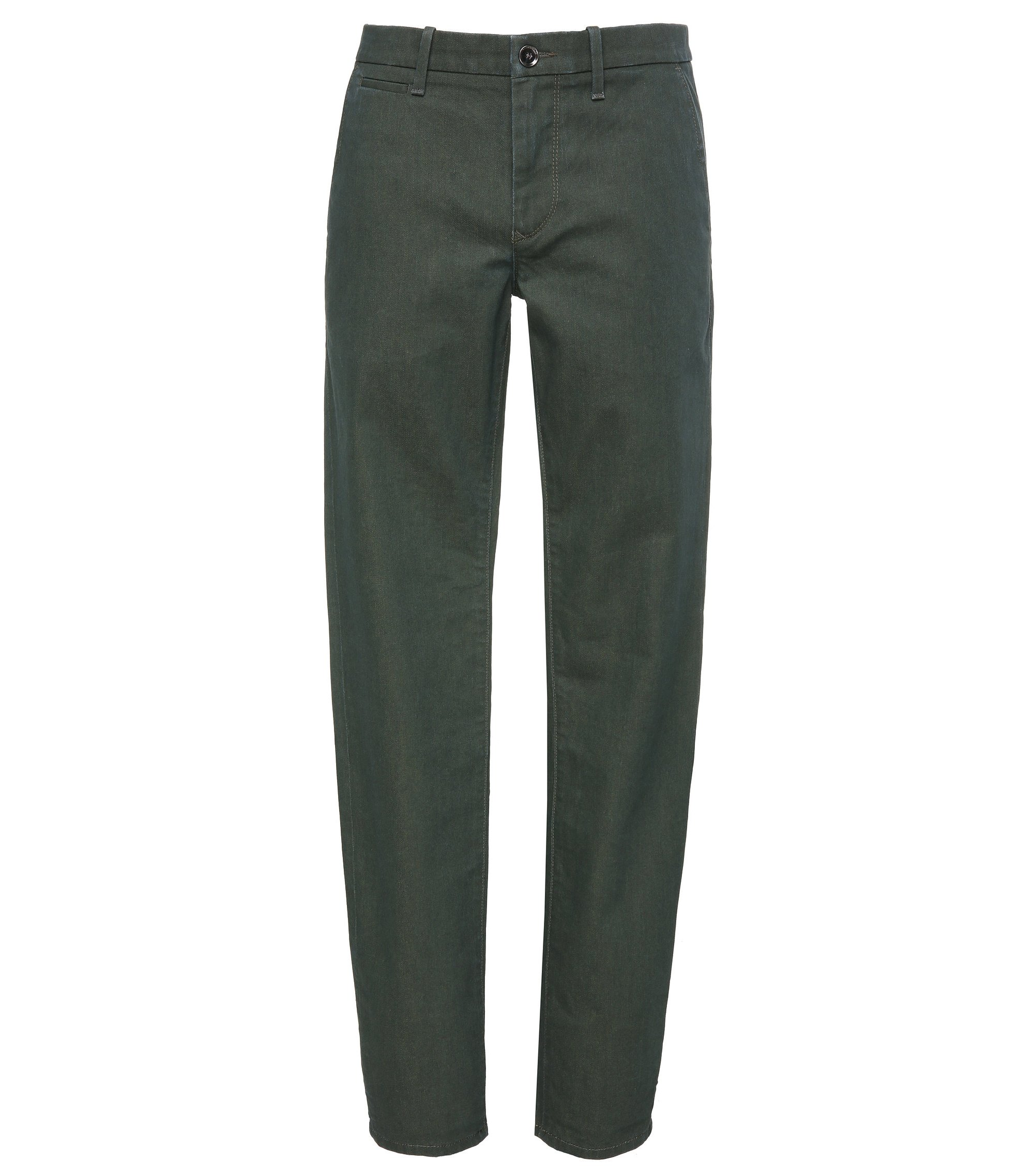 Stretch Cotton Denim Pant, Slim Fit | Orange Chester, Dark Green