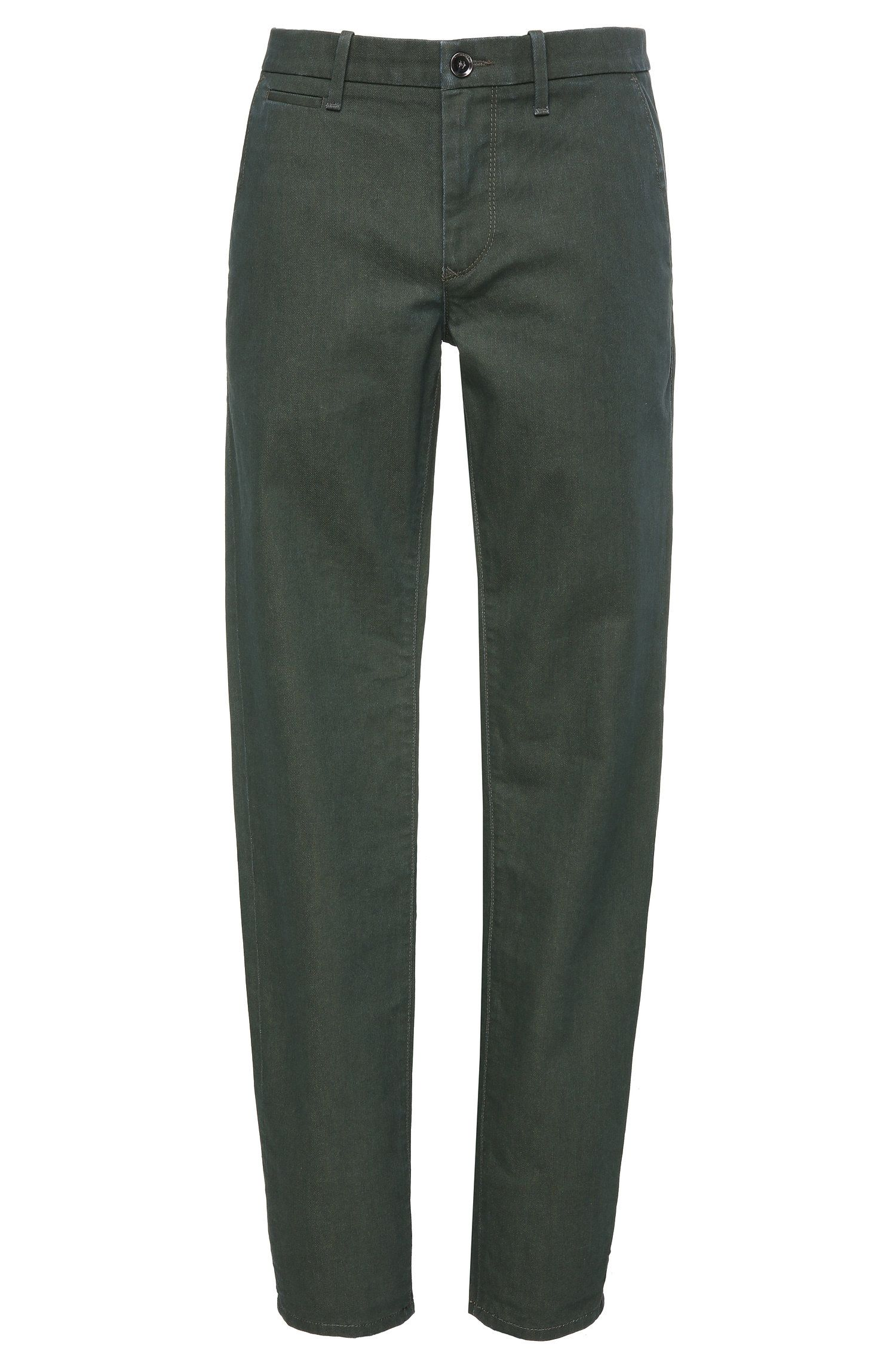 Stretch Cotton Denim Pant, Slim Fit | Orange Chester