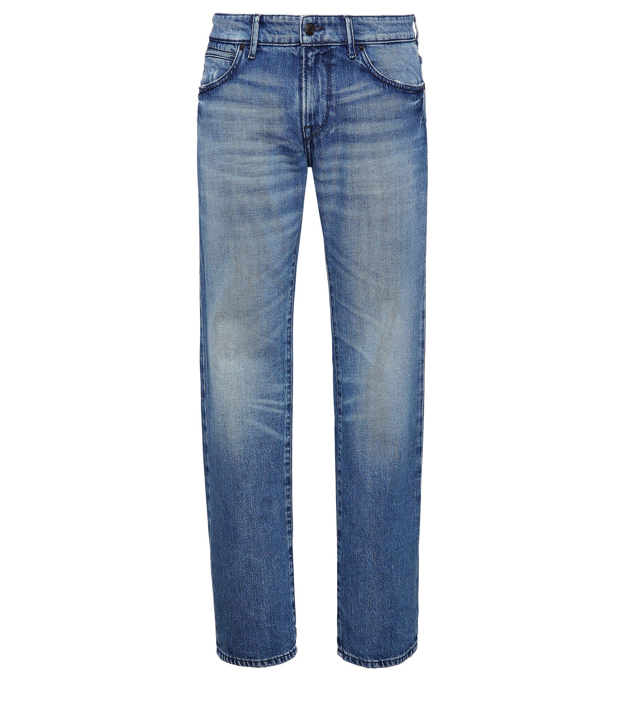 Stretch Cotton Jeans, Regular Fit | Orange 24 Barcelona, Blue