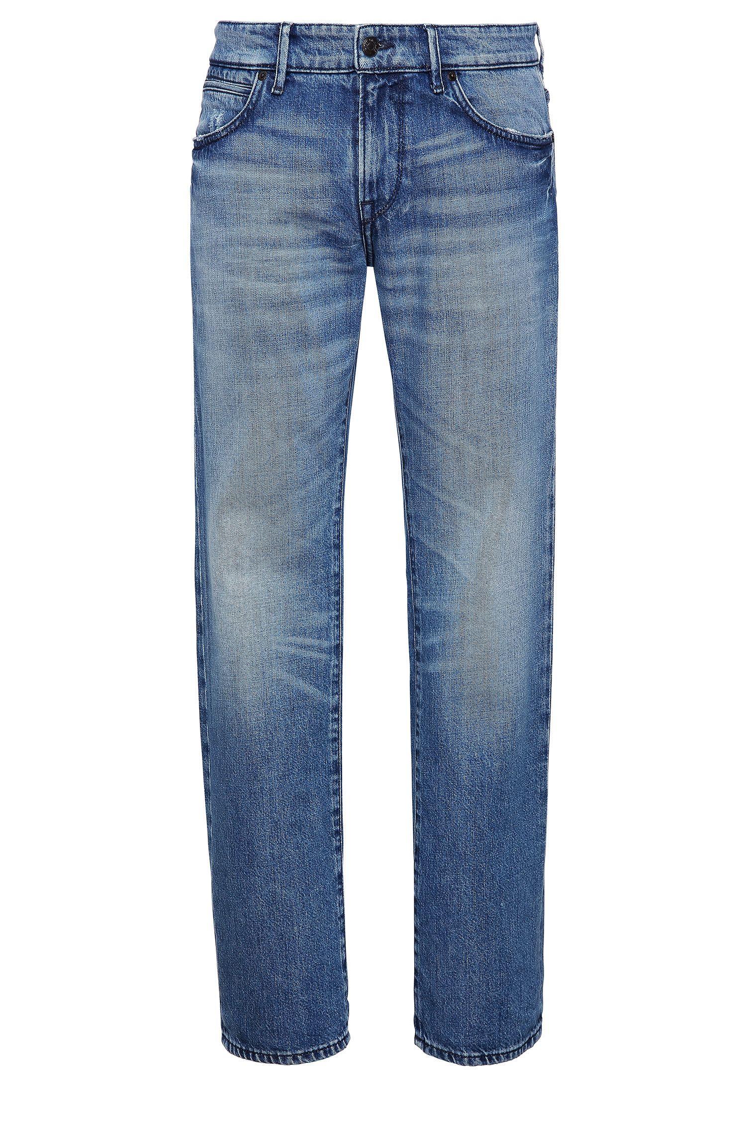 Stretch Cotton Jeans, Regular Fit | Orange 24 Barcelona