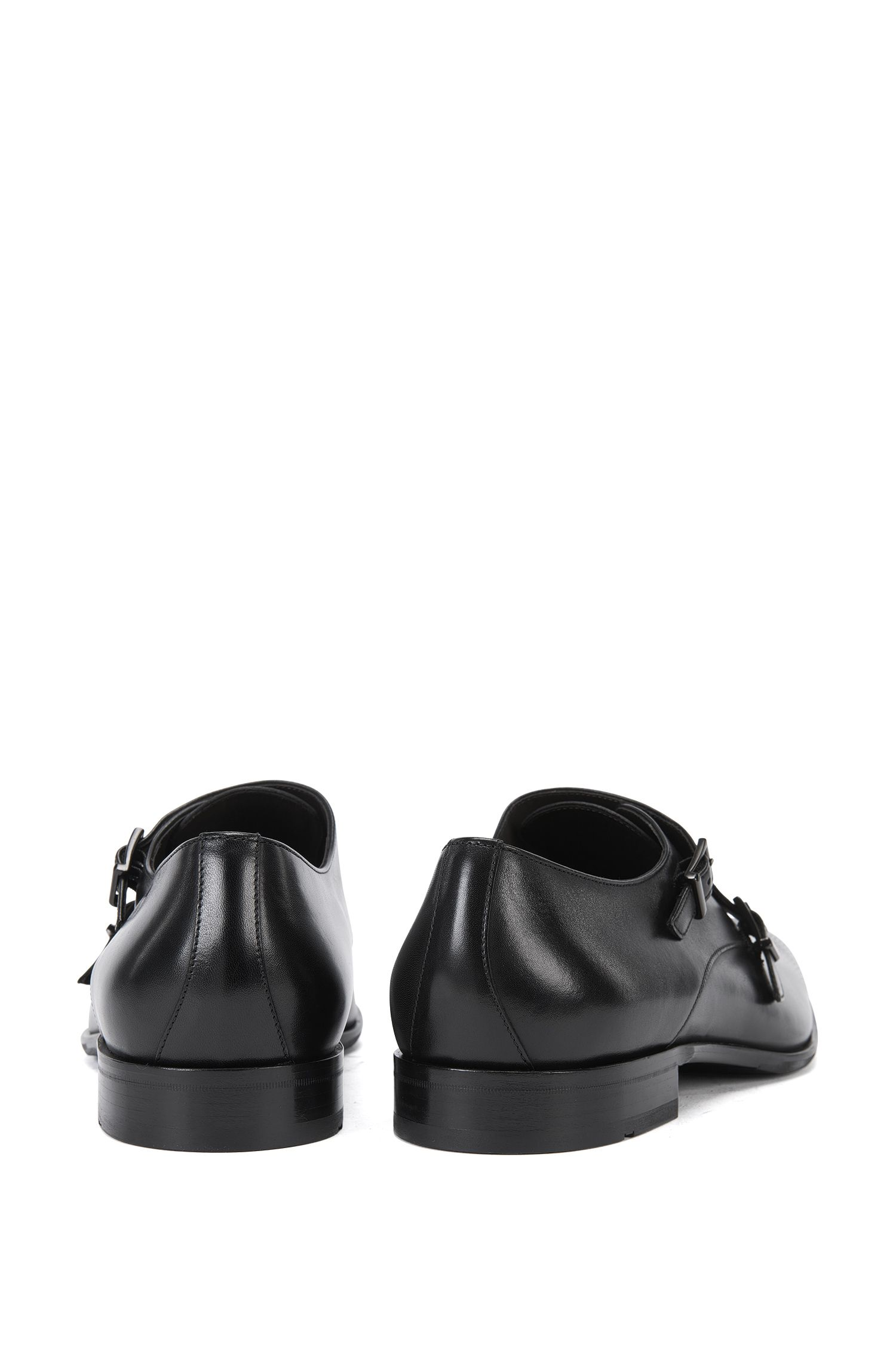 Leather Monk Strap Dress Shoe | Chelsea Monk Clts, Black