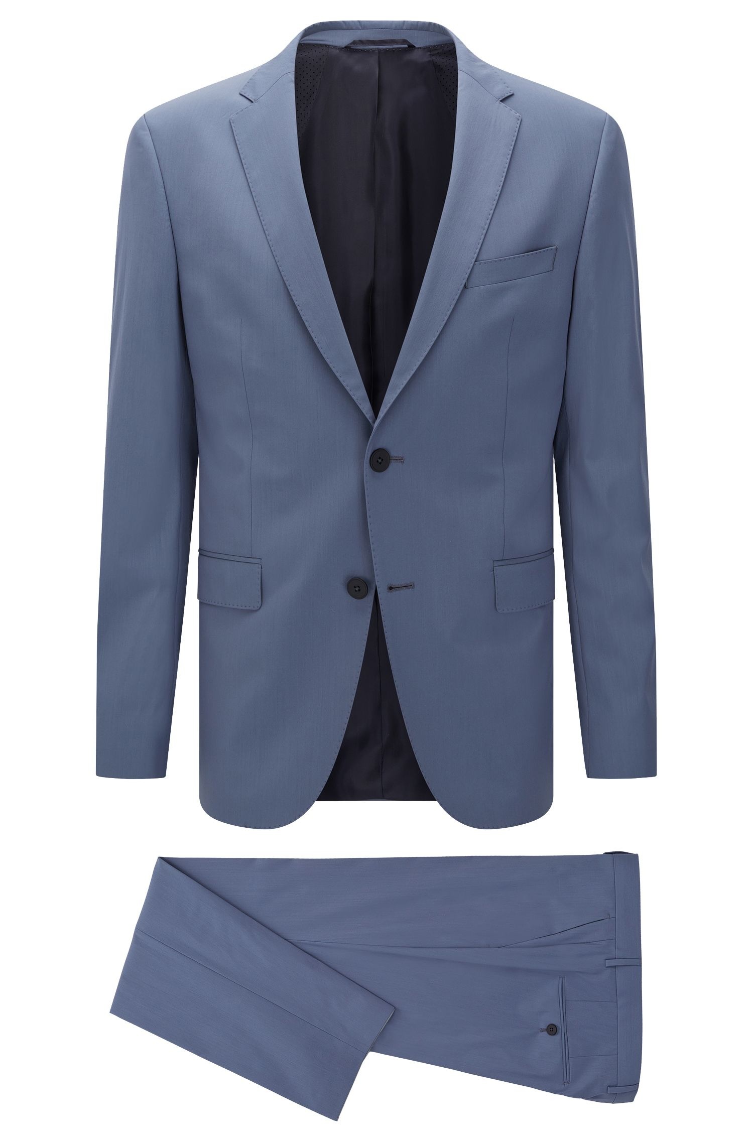 'Nestro/Byte' | Slim Fit, Stretch Virgin Wool Blend Travel Suit