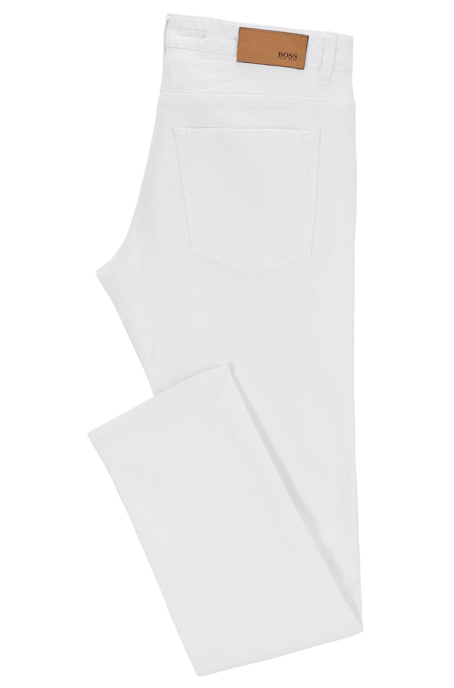 Stretch Cotton Jean, Slim Fit | Delaware, Natural