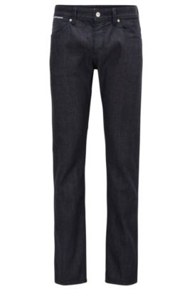 Stretch Cotton Jeans, Slim Fit | Delaware, Dark Blue