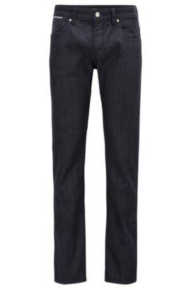 Stretch Cotton Jeans, Slim Fit | Delaware, Dark Blue