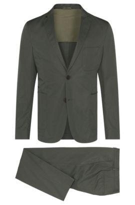 Italian Cotton Suit, Slim Fit | Nastven/Barns-T, Dark Green