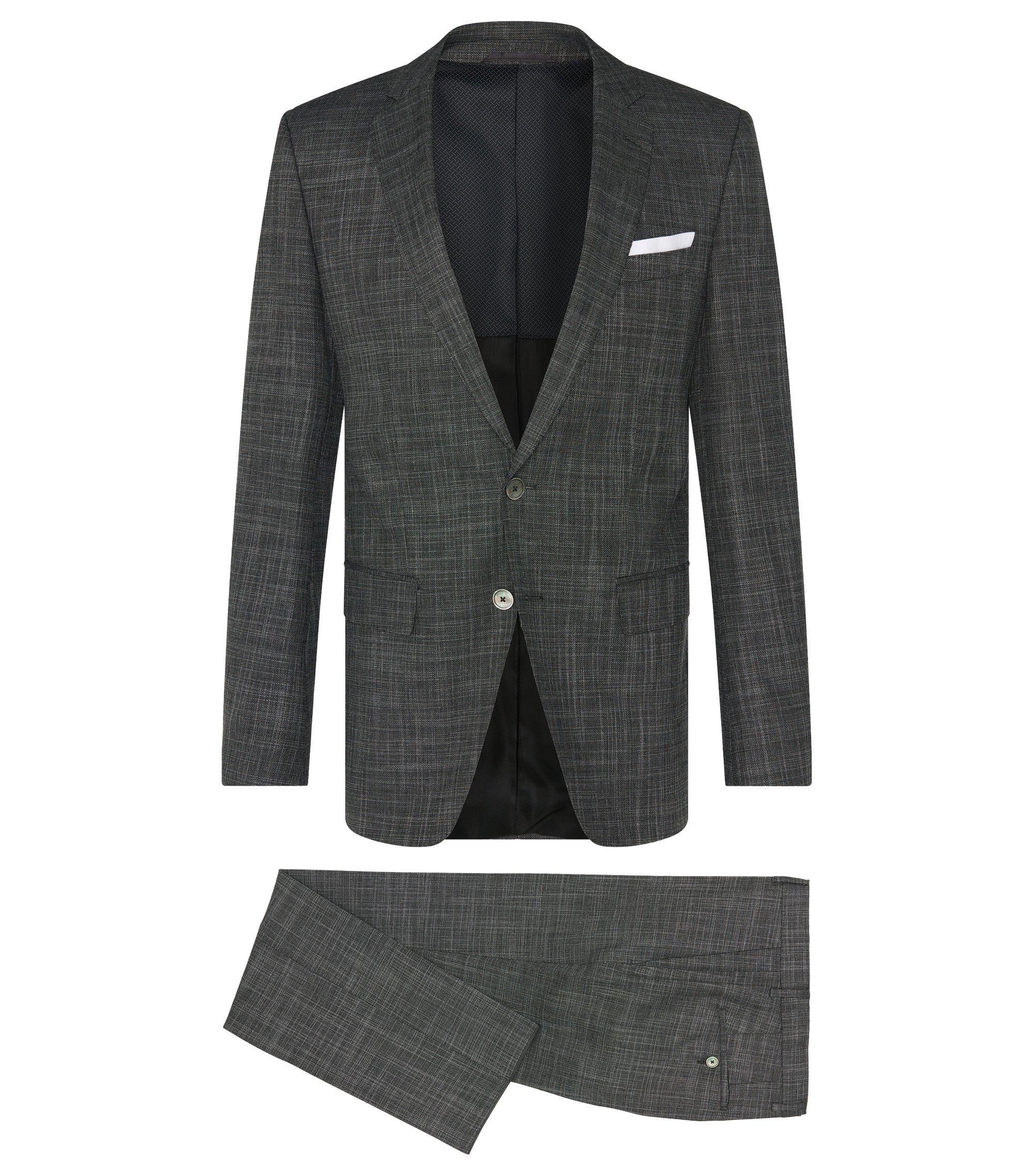 Stretch Wool Blend 3-Piece Suit, Slim Fit | Hutson/Gander WE, Charcoal