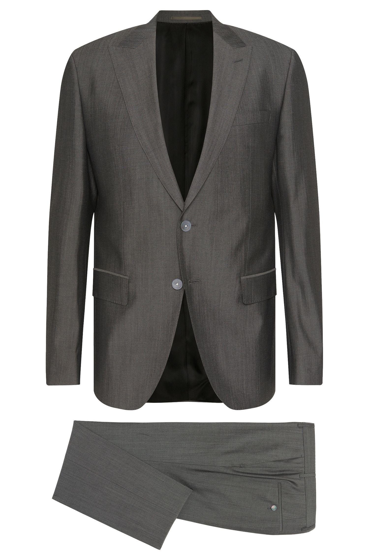 Virgin Wool-Silk Suit, Slim Fit | Hadwyn/Grane