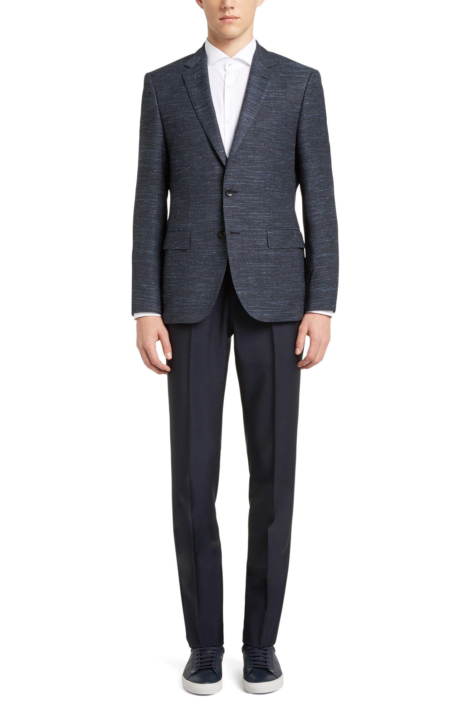 Virgin Wool Cotton Linen Sport Coat, Regular Fit | Jestor