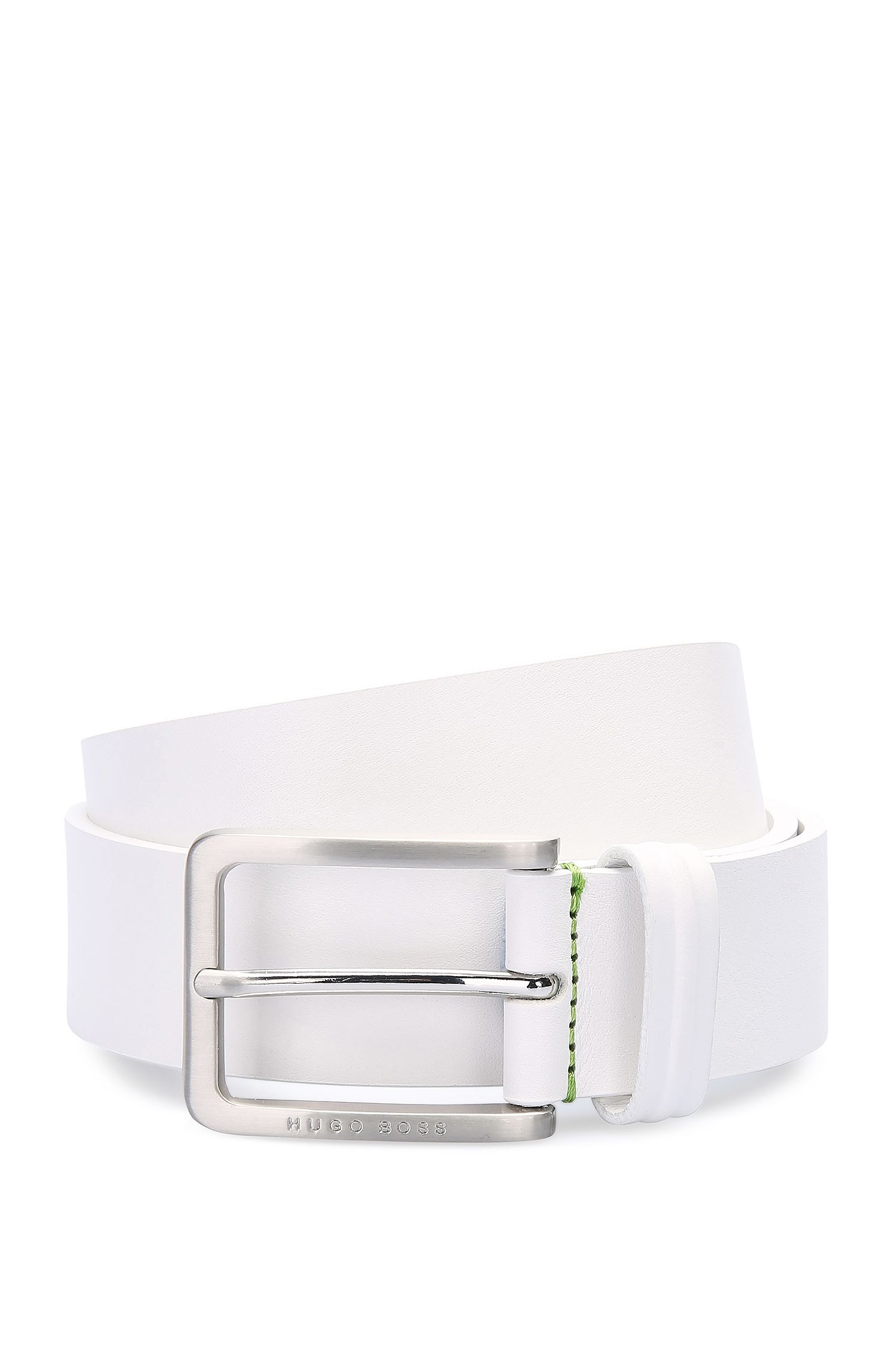 'Teseo Sz Itpl' | Leather Embossed Belt