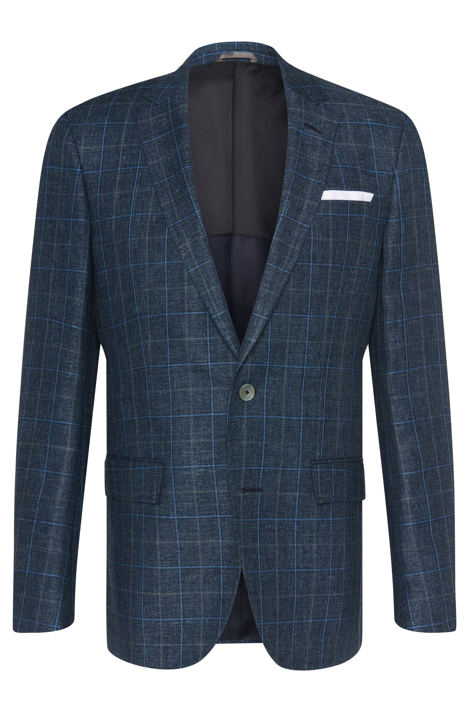 Italian Linen Virgin Wool Sport Coat, Slim Fit | Hutsons