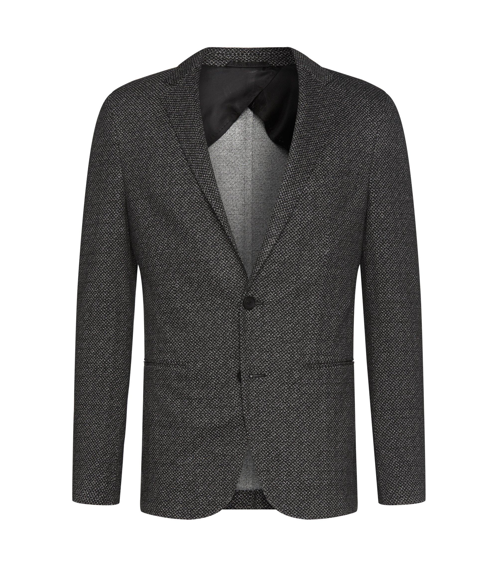 Patterned Jersey Sport Coat, Slim Fit | Norwin, Black