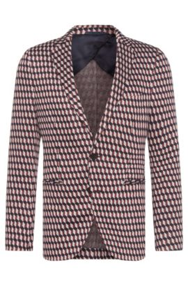 Stretch Viscose Blend Jersey Sport Coat, Slim Fit | Norwin, Pink