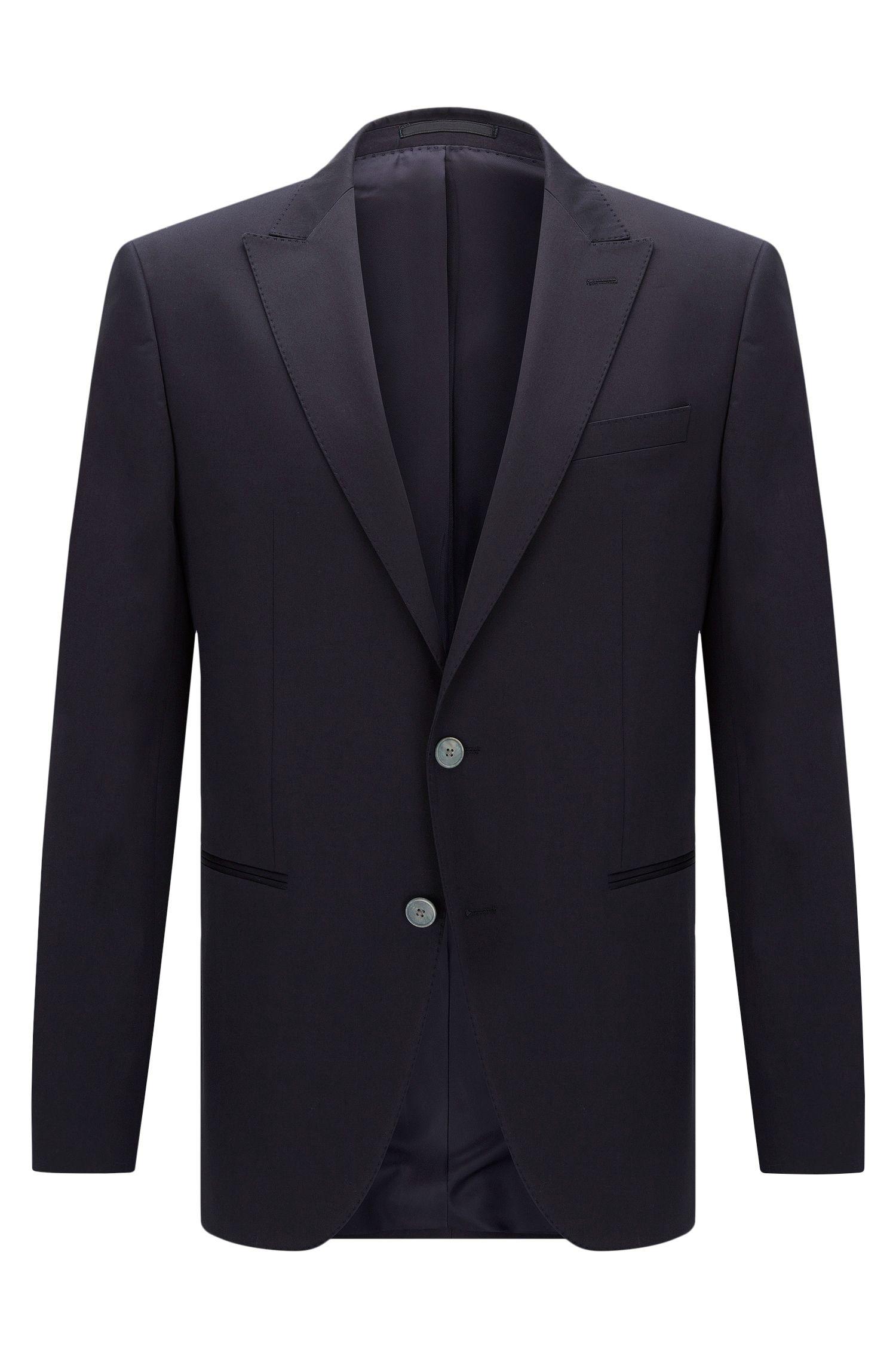 Stretch Cotton Sport Coat, Slim Fit | Hanwyn, Dark Blue