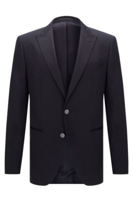 Stretch Cotton Sport Coat, Slim Fit | Hanwyn, Dark Blue