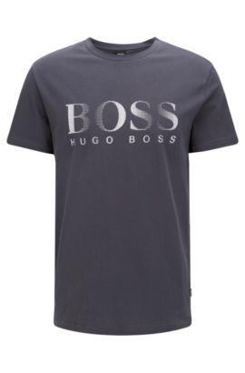 'T-Shirt RN' | Logo Cotton UV T-Shirt, Charcoal