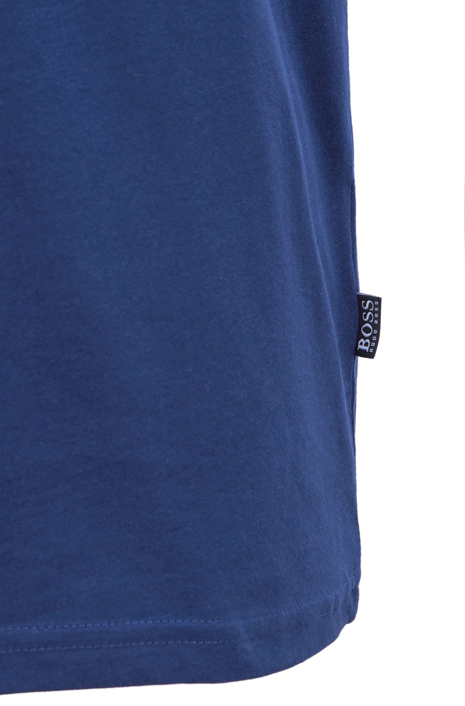 Relaxed-fit cotton T-shirt with UV protection, Dark Blue